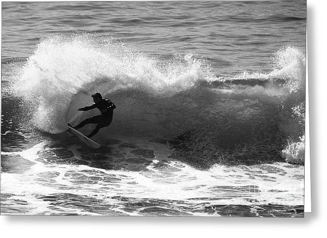 Power Carve Surfer Photo Greeting Card by Paul Topp