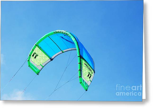 Power Kite Greeting Card by DejaVu Designs