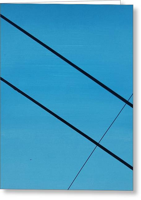 Power Lines 07 Greeting Card by Ronda Stephens