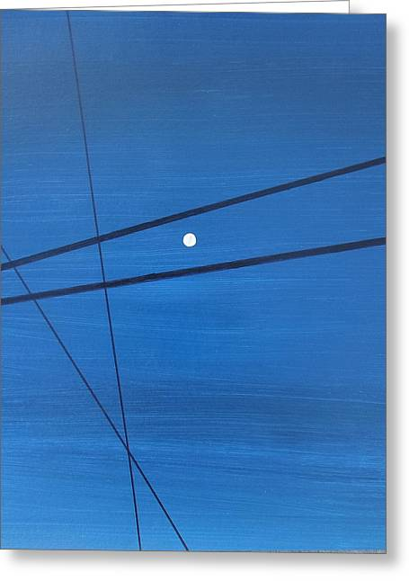 Power Lines 09 Greeting Card by Ronda Stephens