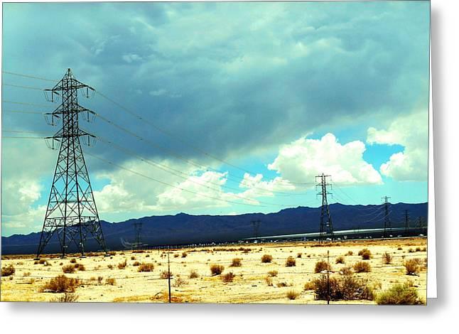 Power Lines Greeting Card by Dietmar Scherf