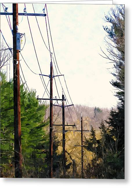 Power Lines Greeting Card by Lanjee Chee