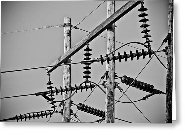Mechanism Photographs Greeting Cards - Power Lines  Greeting Card by Sean Thomas Flaim