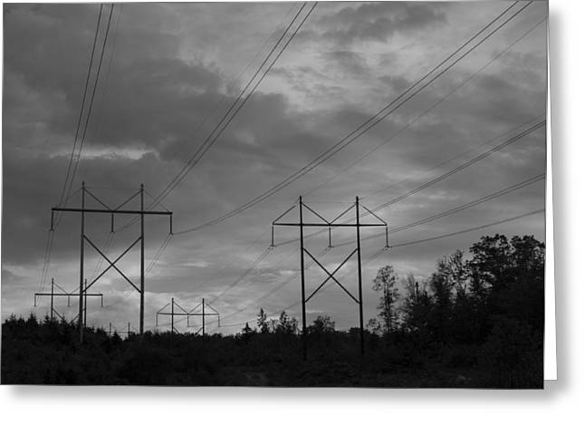 Grafton Vermont Greeting Cards - Power Lines  Greeting Card by Vance Bell