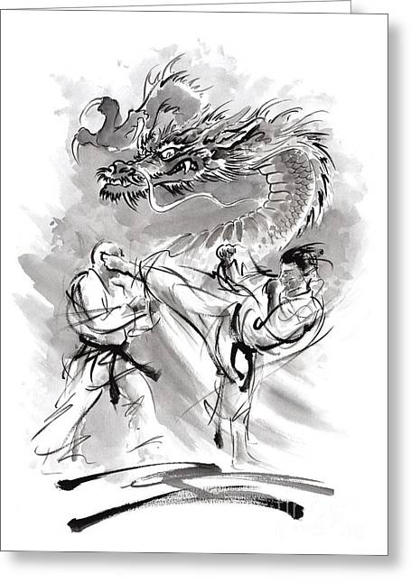 Recently Sold -  - Yang Greeting Cards - Power. Greeting Card by Mariusz Szmerdt