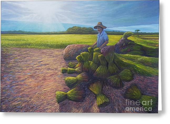 Local Food Paintings Greeting Cards - Power of determination and faith Greeting Card by Isara Daengruan