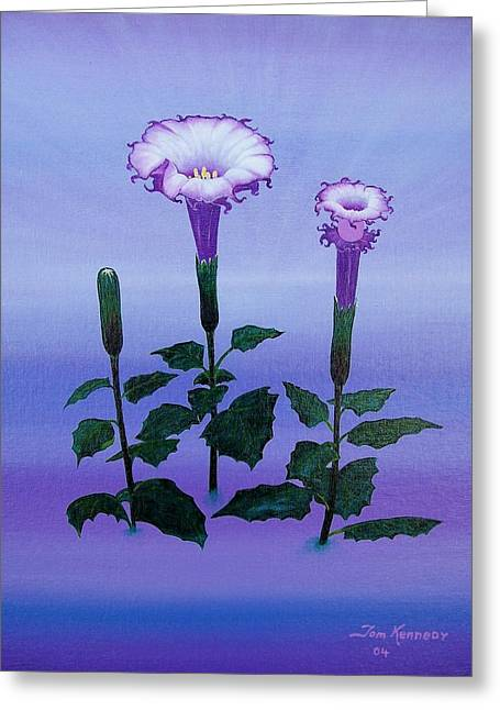 Datura Paintings Greeting Cards - Power Of Life Or Death Greeting Card by Thomas F Kennedy