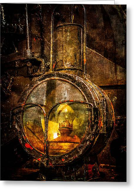 Oil Lamp Greeting Cards - Power Of Light Reflection Greeting Card by Alexander Senin