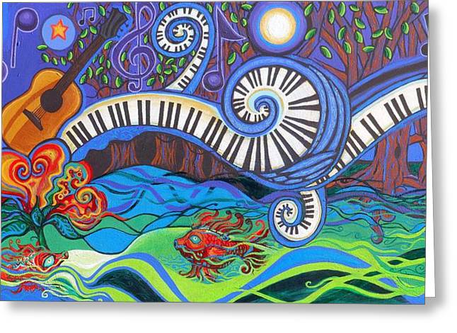 Clef Greeting Cards - Power Of Music II  Greeting Card by Genevieve Esson
