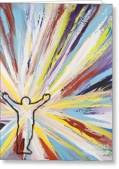 Religious Paintings Greeting Cards - Power of Praise Greeting Card by Leland  Barlow