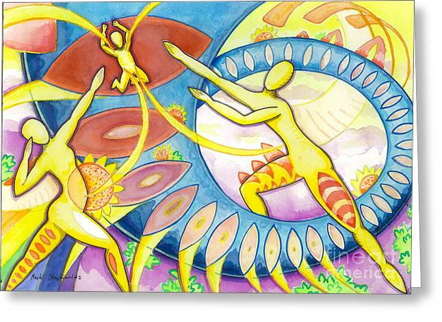 Power Of The Dance - Family Greeting Card by Mark Stankiewicz