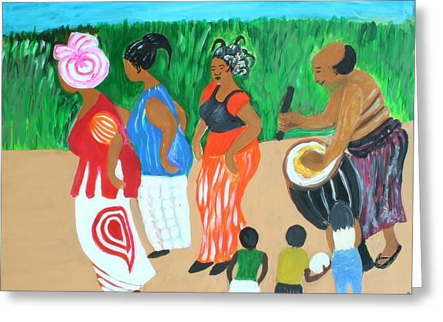 A. Volta Greeting Cards - Power of the drum Greeting Card by Vivian IDOWU