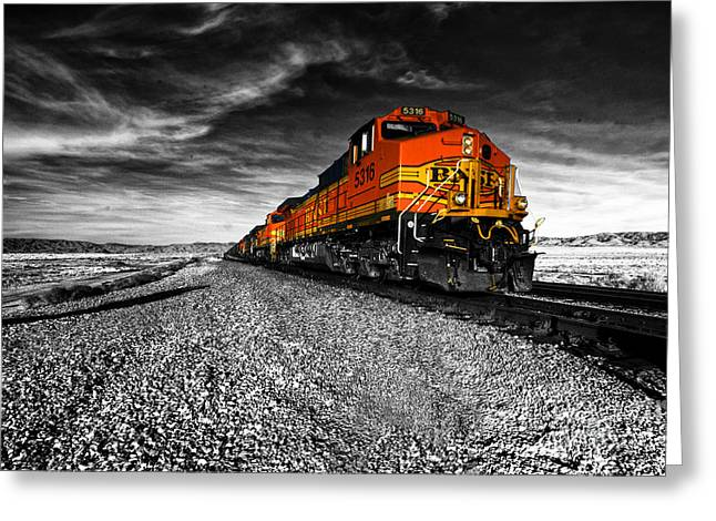 Train Greeting Cards - Power of the Santa Fe  Greeting Card by Rob Hawkins