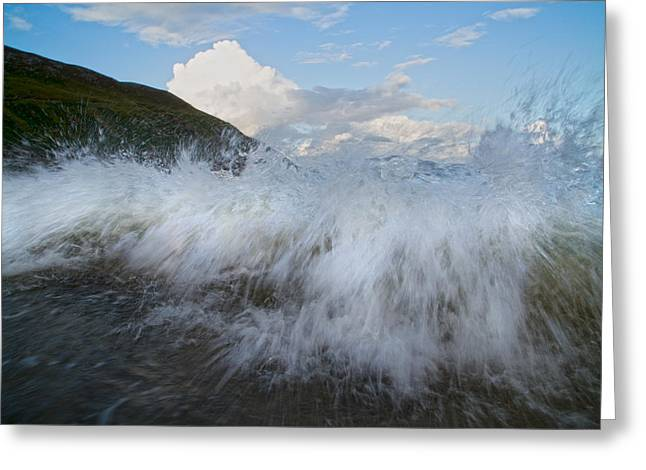 Surf Lifestyle Greeting Cards - Power of the Sea Keem Beach Ireland Greeting Card by Betsy C  Knapp