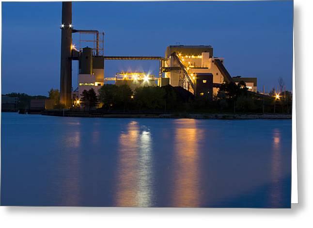 Power Plant Greeting Card by Adam Romanowicz