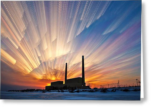 Best Sellers -  - Power Plants Greeting Cards - Power Plant Greeting Card by Matt Molloy