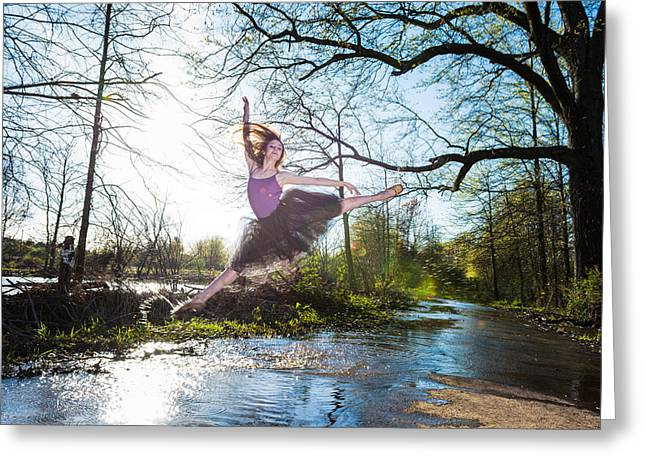 Ballet Dancers Photographs Greeting Cards - Power Greeting Card by Ryan Crane