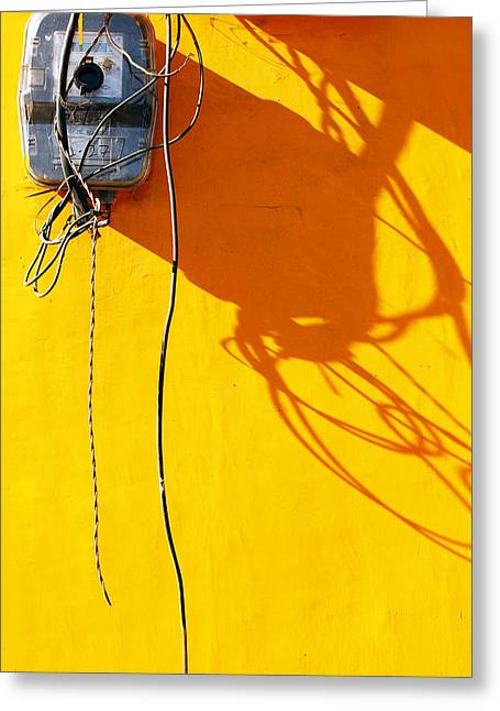 Elongated Shadows Greeting Cards - Power Shortage Greeting Card by Prakash Ghai