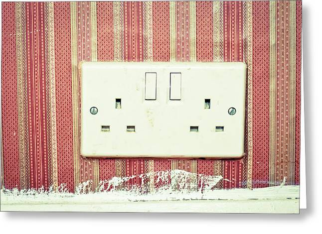 Electrical Plug Greeting Cards - Power socket Greeting Card by Tom Gowanlock