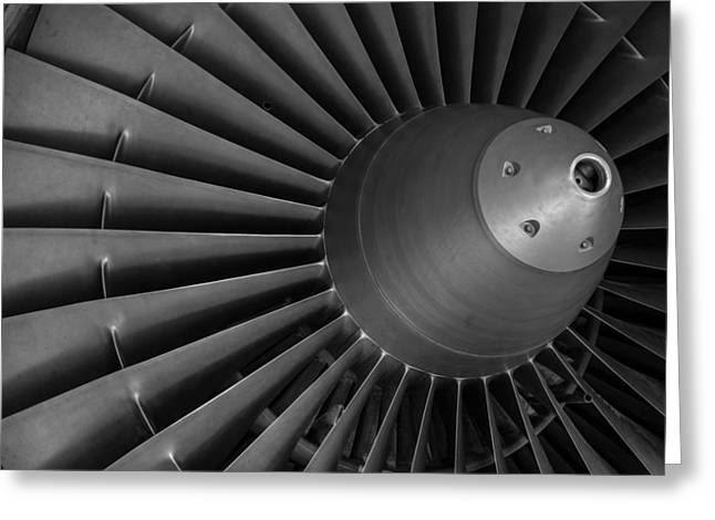 Aircraft Engine Greeting Cards - Power Source Greeting Card by Mountain Dreams