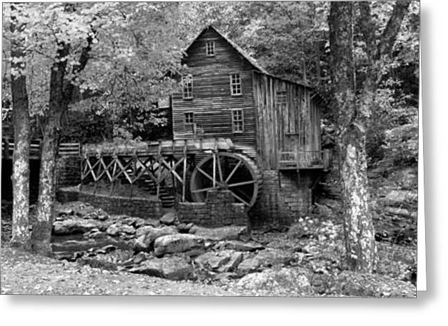 Grist Wheel Greeting Cards - Power Station In A Forest, Glade Creek Greeting Card by Panoramic Images