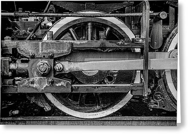 Locomotive Wheels Greeting Cards - Power Stroke Greeting Card by Ken Smith