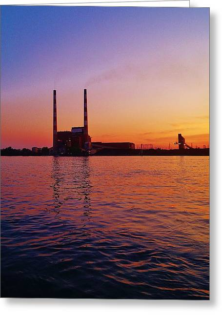 Power Plants Greeting Cards - Power Towers Greeting Card by Daniel Thompson