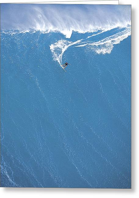 Surfing Photos Greeting Cards - Power Turn Greeting Card by Sean Davey