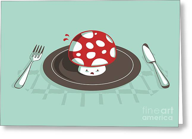 Funny Greeting Cards - Power up Greeting Card by Budi Satria Kwan