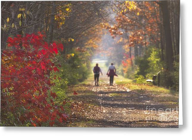 Power Walkers Greeting Card by Michele Steffey