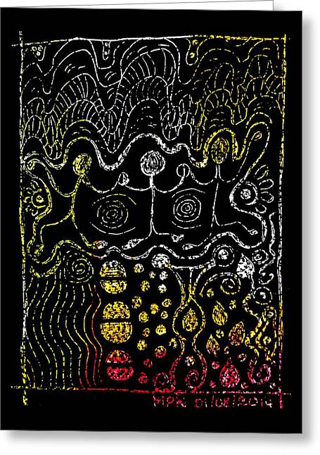 Unity Mixed Media Greeting Cards - PowerDance Greeting Card by Mimulux patricia no