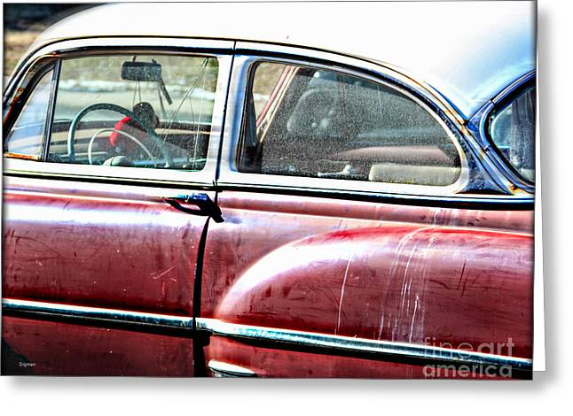 American Automobiles Digital Greeting Cards - PowerGlide by 54 Greeting Card by Steven  Digman