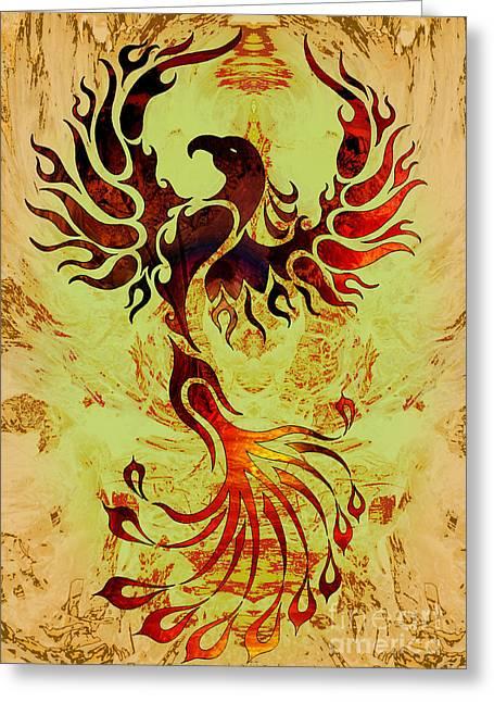 Phoenix Suns Greeting Cards - Powerful Phoenix Greeting Card by Robert Ball