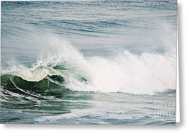 Yachats Greeting Cards - Powerful Wave Greeting Card by Scott Pellegrin