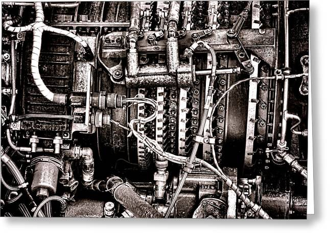 Electrical Wiring Greeting Cards - Powerplant Greeting Card by Olivier Le Queinec