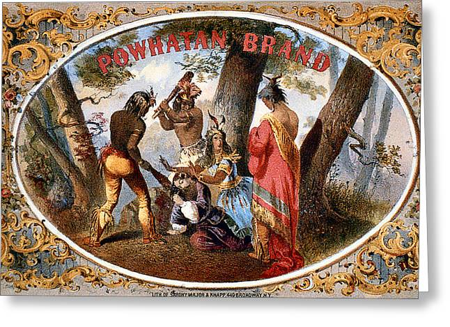Maiden Greeting Cards - Powhatan Brand Greeting Card by Studio Art