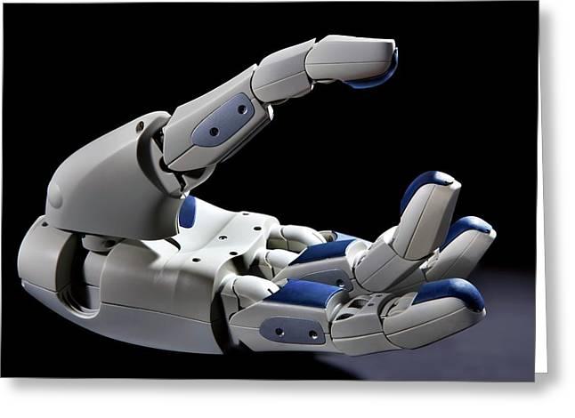 Pr2 Robot Hand Greeting Card by Patrick Landmann