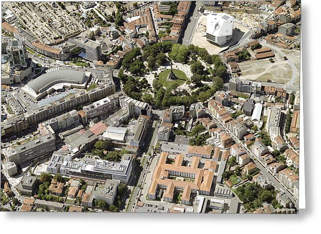 Geometric Image Greeting Cards - Praça Mousinhodealbuquerque Greeting Card by Blom ASA