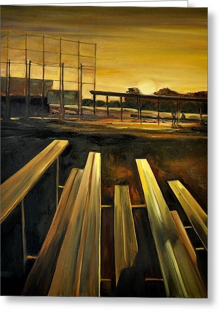 Practice Fields Greeting Card by Lindsay Frost