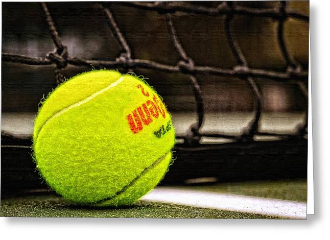 Practice - Tennis Ball By William Patrick and Sharon Cummings Greeting Card by Sharon Cummings