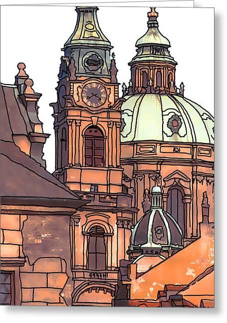 Prague 1 Greeting Card by Phil Robinson