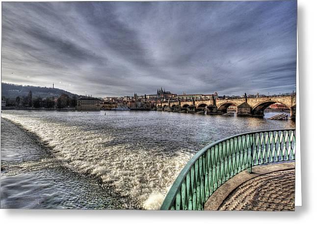 Vltava Digital Greeting Cards - Prague Greeting Card by Alfredo Machado