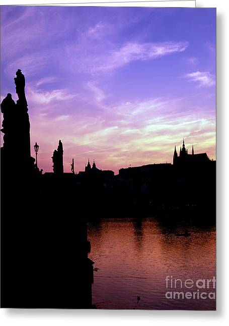 Castle Gates Greeting Cards - Prague Castle And The Vitava River Greeting Card by Rafael Macia