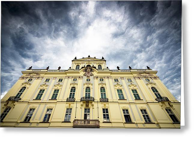 Prague Castle Greeting Cards - Prague Castle - Archbishops Palace Greeting Card by Matthias Hauser