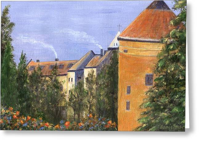 Prague Paintings Greeting Cards - Prague Castle Greeting Card by Jamie Frier