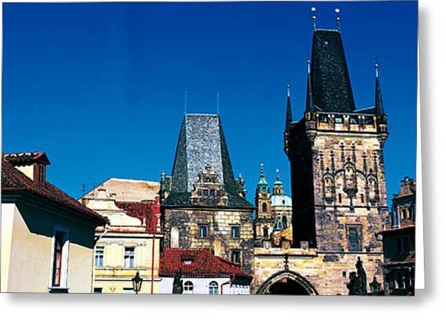 Tile Roof Greeting Cards - Prague Castle St Vitus Cathedral Prague Greeting Card by Panoramic Images