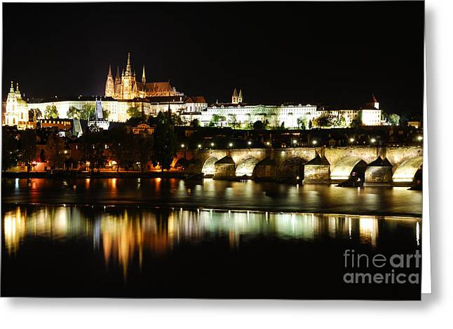 Super Castle Greeting Cards - Prague Castle Greeting Card by Syed Aqueel