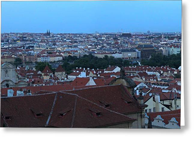Virgin Mary Greeting Cards - Prague Castle View - 02 Greeting Card by Gregory Dyer