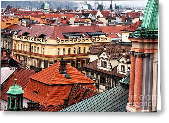 Red School House Greeting Cards - Prague Color Spectrum  Greeting Card by John Rizzuto