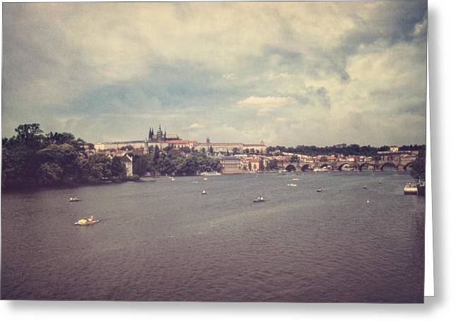 Prague Days II Greeting Card by Taylan Soyturk